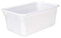 School Smart Tote Tray, 12 x 8 x 5 Inches, White Item Number 081949