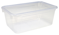 School Smart Tote Tray, 12 x 8 x 5 Inches, Translucent Item Number 081967