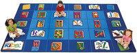 Carpets For Kids Reading by The Book Carpet, 5 Feet 10 Inches x 8 Feet 4 Inches, Rectangle Item Number 082426