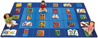 Carpets For Kids Reading by The Book Carpet, 8 Feet 4 Inches x 13 Feet 4 Inches, Rectangle Item Number 082428