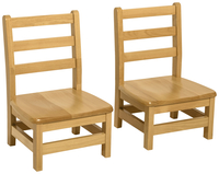 Image for Wood Designs Deluxe Hardwood Chairs, 12-Inch Seat Height, 14 x 12-1/8 x 24 Inches, Natural, Set of 2 from School Specialty