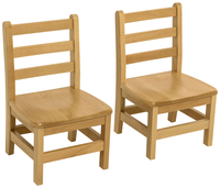 Image for Wood Designs Deluxe Hardwood Chairs, 14-Inch Seat Height, 14 x 12-1/8 x 26-1/4 Inches, Natural, Set of 2 from School Specialty