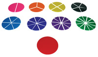 School Smart Fraction Circles, Set of 51 Item Number 085131