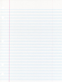 Lined Paper, Primary Ruled Paper, Item Number 085243