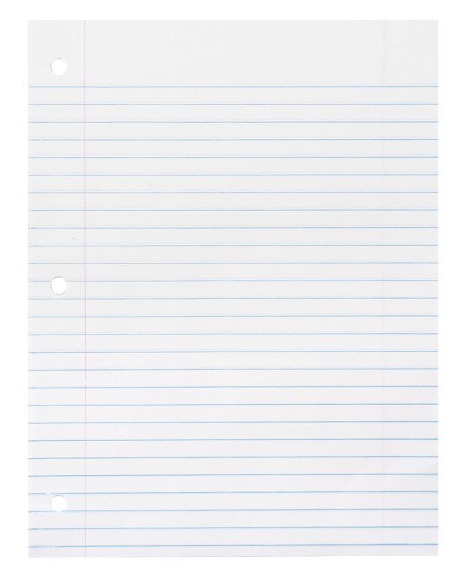 Notebooks, Loose Leaf Paper, Filler Paper, Item Number 085285
