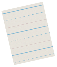 Lined Paper, Primary Ruled Paper, Item Number 085313