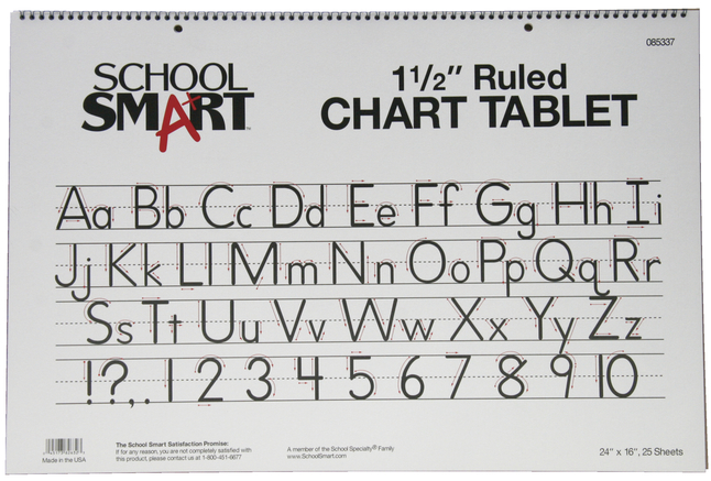 Chart Tablets, Chart Supplies, Item Number 085337