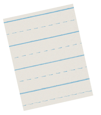 Lined Paper, Primary Ruled Paper, Item Number 085362