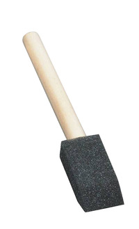 School Smart Wedge Foam Wood Handle Paint Brush, 1 Inch, Pack of 10 Item Number 085667