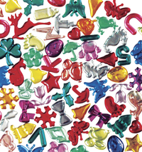 Creativity Street Assorted Shape Acrylic Gemstone, Assorted Color, 1/2 lb Bag Item Number 085730