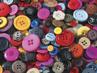 School Smart Craft Buttons, Assorted Shapes, Assorted Colors, 1 Pound Item Number 085735