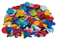 School Smart Multi-Purpose Assorted Shape Sequin and Spangle, Assorted Size, Assorted Color, 1 lb Item Number 085743