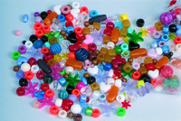 School Smart Plastic Assorted Shape Bead Mix, Assorted Color, 1 lb Item Number 085773
