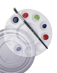 School Smart Student Paint Palette with Cover, 7 Inches, White, Pack of 12 Item Number 085860