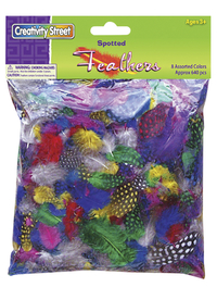 School Smart Rainbow Guinea Hen Feather Superpack 3 - 4 in, Assorted Color, Pack of 640 Item Number 086299
