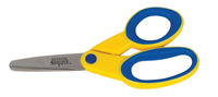 School Smart Lefty Kids Scissor, Blunt Tip, 5 Inches, Yellow/Blue Item Number 086334