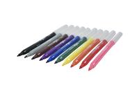 School Smart Washable Marker, Fine Tip, Assorted Colors, Pack of 10 Item Number 086512