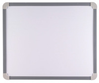 School Smart Magnetic White Board, Small, 17-1/4 x 14-1/2 Inches, Aluminum Frame Item Number 070626