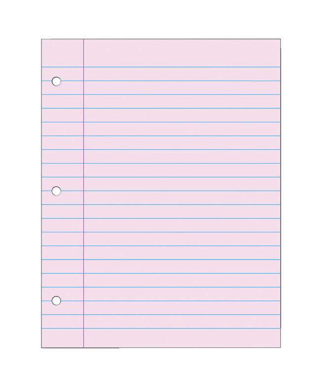 Notebooks, Loose Leaf Paper, Filler Paper, Item Number 087155