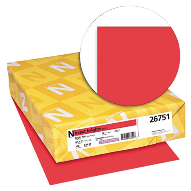 Colored Copy Paper, Item Number 087298