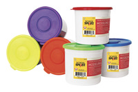 School Smart Modeling Dough, 3-1/3 Pound Buckets, Assorted Colors, Set of 6 Item Number 088684