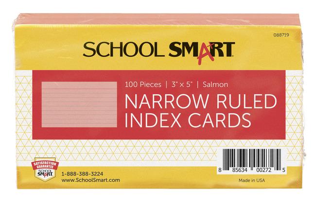 3X5 Ruled Index Cards, Item Number 088719
