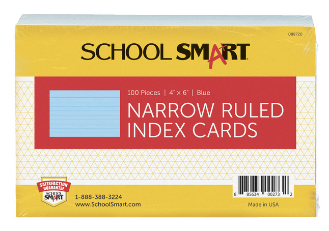 4x6 Ruled Index Cards, Item Number 088720
