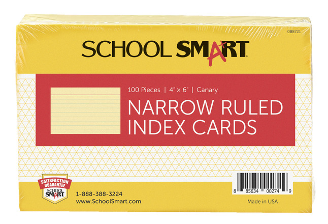 4x6 Ruled Index Cards, Item Number 088721