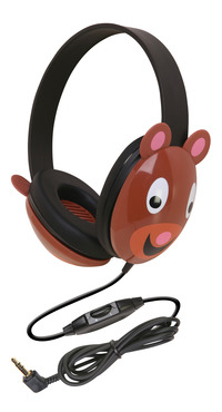 Califone 2810-BE Listening First Kids Bear Theme Wired Headphones Item Number 089442