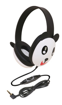 Califone 2810-PA Listening First Kids Panda Theme Wired Headphones Item Number 089444