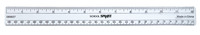 School Smart Flexible Ruler, Inches and Metric, 12 Inches, Clear Item Number 089837
