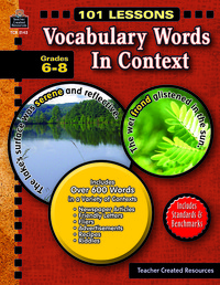 Vocabulary Games, Activities, Books Supplies, Item Number 089935