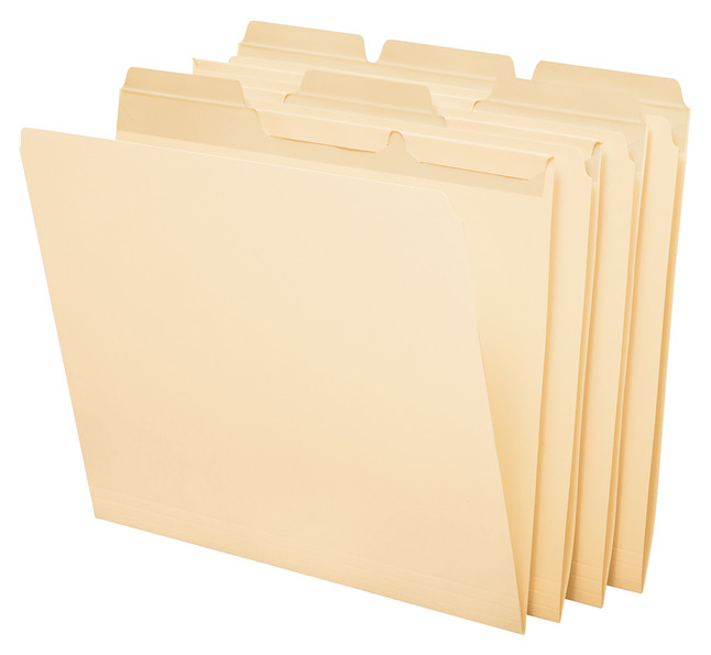 Top Tab File Folders, Item Number 090536