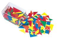 School Smart Tangrams, Assorted Colors, 210 Pieces Item Number 091453