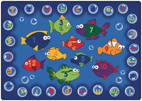 Carpets For Kids Fishing for Literacy Rug, 3 Feet 10 Inches x 5 Feet 5 Inches, Rectangle Item Number 091540
