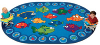 Carpets for Kids Fishing for Literacy Carpet, 8 x 12 Feet, Oval Item Number 1512763