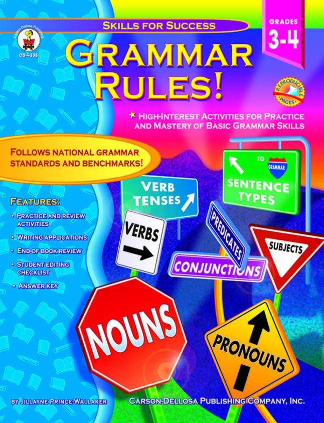 Grammar Books, Grammar Activities Supplies, Item Number 091872