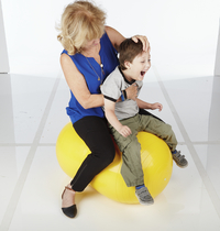 Gymnic Physio-Roll Ball, 22 Inches, Yellow Item Number 1004585
