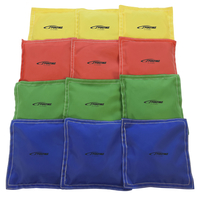 Sportime Nylon-Covered Bean Bags, 5 x 5 Inches, Assorted Colors, Pack of 12 Item Number 1005654