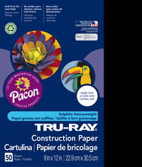 Tru-Ray Sulphite Construction Paper, 9 x 12 Inches, Black, 50 Sheets Item Number 1006763
