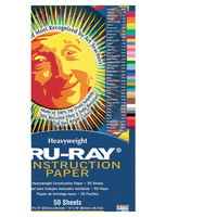 Tru-Ray Sulphite Construction Paper, 9 x 12 Inches, White, 50 Sheets Item Number 1006764