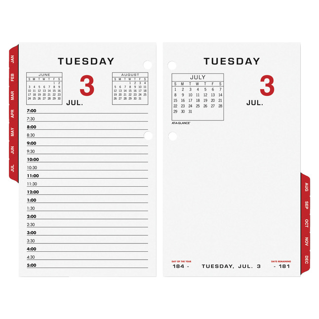 Daily Planner and Calendars, Item Number 1053110