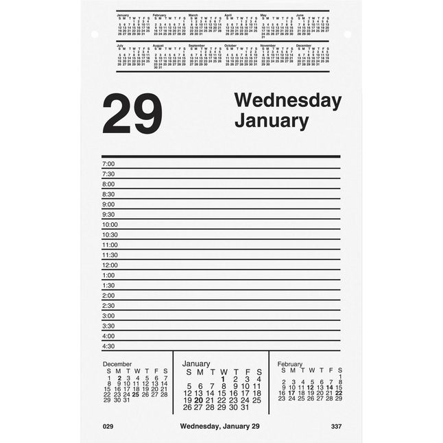 Daily Planner and Calendars, Item Number 1053116