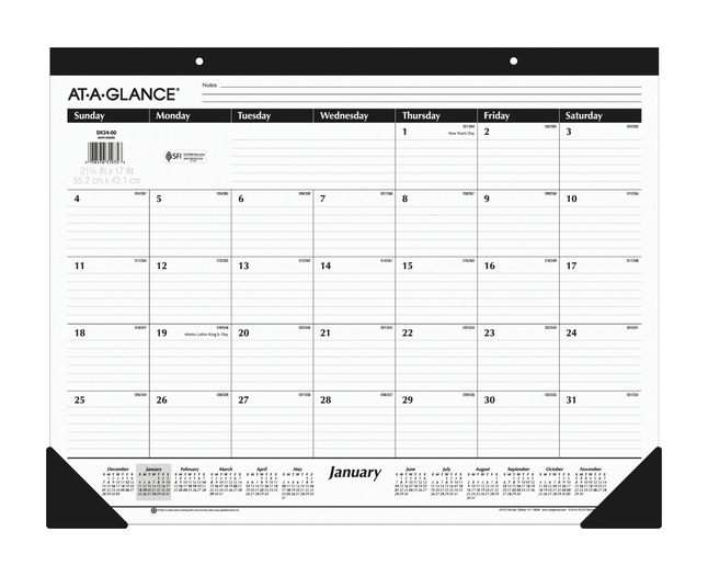 Daily Planner and Calendars, Item Number 1053219