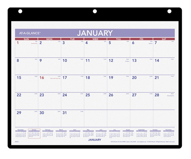 Daily Planner and Calendars, Item Number 1053235