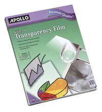 Overhead Transparency Film and Sheets, Item Number 1054010