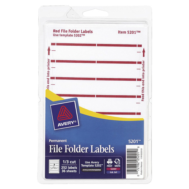 File Folder and File Cabinet Labels, Item Number 1054123