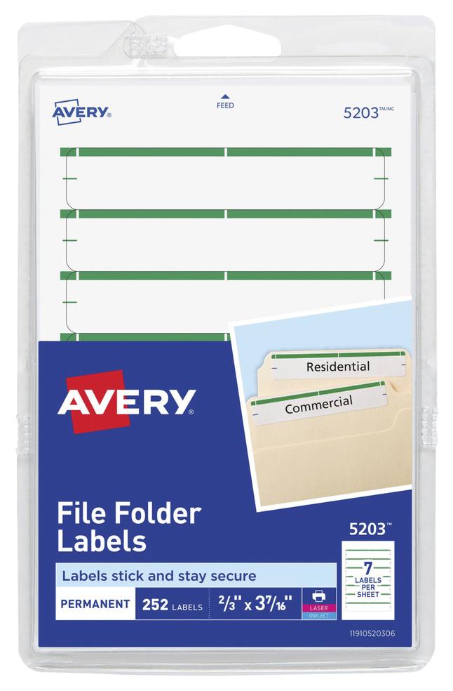 File Folder and File Cabinet Labels, Item Number 1054125