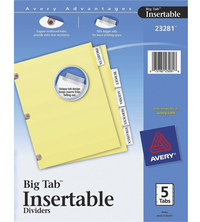 Tab Dividers, Item Number 1054348