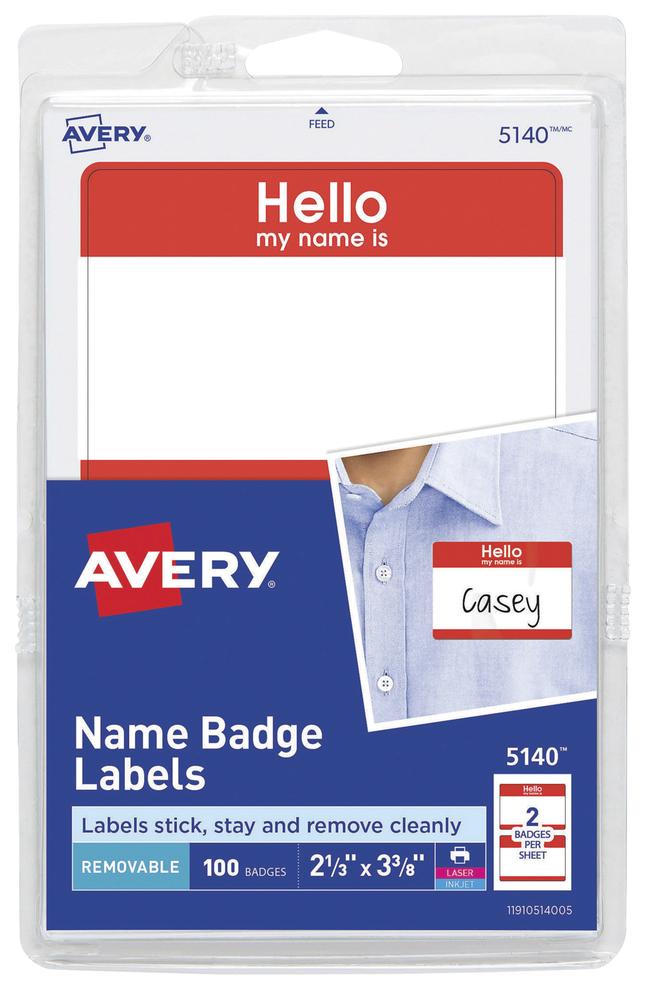 Name Badge Labels, Item Number 1054554